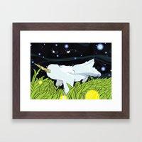 chasing apple spores Framed Art Print