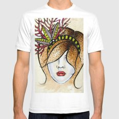 chloe White SMALL Mens Fitted Tee