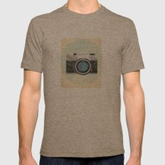 Vintage Camera Mens Fitted Tee Tri-Coffee SMALL