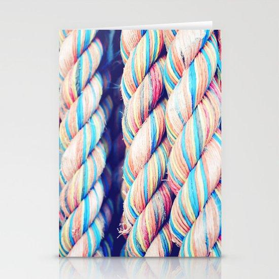 Rainbow Rope Stationery Card