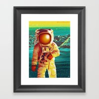 Space Man Framed Art Print