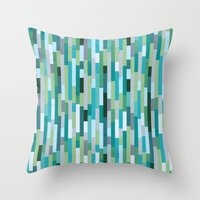City By The Bay, Rainy B… Throw Pillow