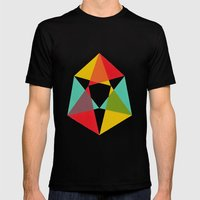 Triangles Mens Fitted Tee Black SMALL