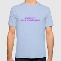 Directed By Wes Anderson Mens Fitted Tee Athletic Blue SMALL