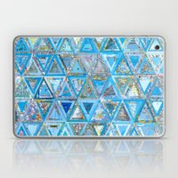 Blue Triangle Map Collage Laptop & iPad Skin