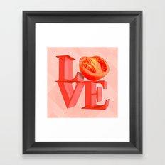 I LOVE TOMATO !!! Framed Art Print