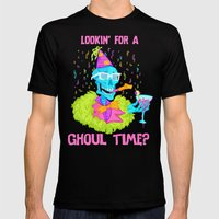 Lookin' for a ghoul time? Mens Fitted Tee Black SMALL