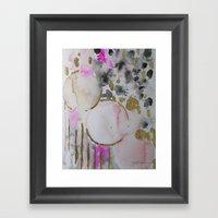 Spots Or Dots Pink Abstr… Framed Art Print