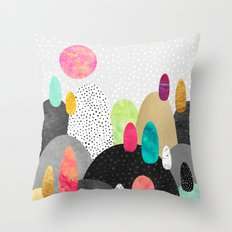 Little Land of Pebbles Throw Pillow