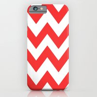 Red Chevron Lines iPhone 6 Slim Case