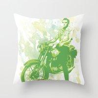 Morrissycle Throw Pillow