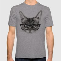 Mr. Piddleworth Mens Fitted Tee Athletic Grey SMALL