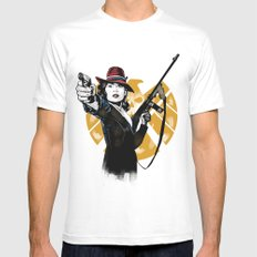 Agent Peggy Carter White SMALL Mens Fitted Tee