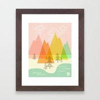 Raindrop Valley Framed Art Print