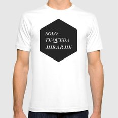 Solo Mens Fitted Tee White SMALL