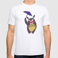 Totoro Is Tired Collage Mens Fitted Tee Ash Grey SMALL
