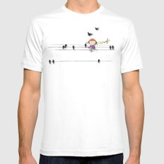 mon coeur s'ouvre a ta voix White SMALL Mens Fitted Tee