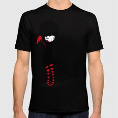 Rain SMALL Mens Fitted Tee Black
