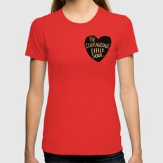 Be Courageous, Little Soul Womens Fitted Tee Red SMALL