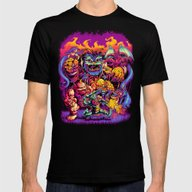 GHOSTS 'N' GOBLINS Mens Fitted Tee Black SMALL