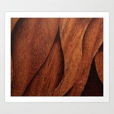 Beautiful Unique  brown wood inlay marquetry veneer design Art Print