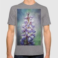 Wild Lupine Mens Fitted Tee Tri-Grey SMALL