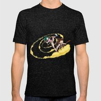 A ride with Son Goku Mens Fitted Tee Tri-Black SMALL