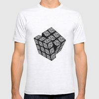 qr cube Mens Fitted Tee Ash Grey SMALL