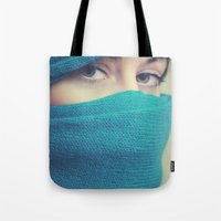 blue sees Tote Bag