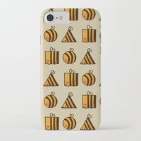 bee iPhone & iPod Cases featuring BEE DIFFERENT by Huebucket