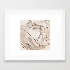 Watercolor nude Framed Art Print