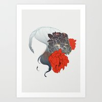 Without Face Art Print