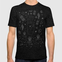 SPACE DREAMS Mens Fitted Tee Tri-Black SMALL