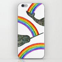 Silly Narwhale Rainbow iPhone & iPod Skin