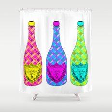 Dom Pop Art Champagne Bottles  Shower Curtain