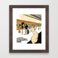 Train Dogs Framed Art Print