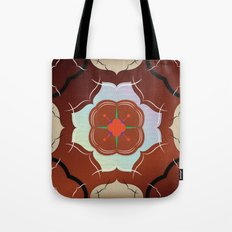 Vintage Tiles: Red Tote Bag