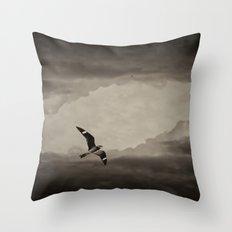 Nighthawk Flight Through Time Throw Pillow