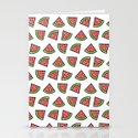 Chunks of Watermelon Stationery Cards