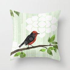 Bird in Tree Throw Pillow