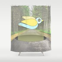 let me fly Shower Curtain