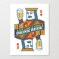 King Of Beers Canvas Print