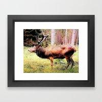 Mighty Deer Framed Art Print