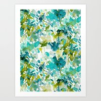 Local Color (Teal) Art Print