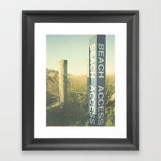 Beach Access Framed Art Print