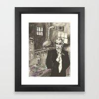 Portrait Of Vincent Pric… Framed Art Print