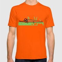 Crocodile Mens Fitted Tee Orange SMALL