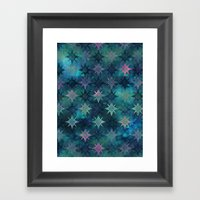 Bohemian Night Skye - Green Framed Art Print