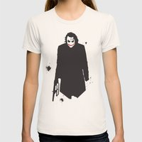 The Dark Knight: Joker Womens Fitted Tee Natural SMALL
