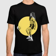 Marley playing soccer SMALL Black Mens Fitted Tee